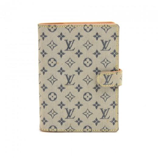 dd22f0801189 Louis Vuitton Louis Vuitton Agenda PM Mini Line Blue Monogram Canvas ...