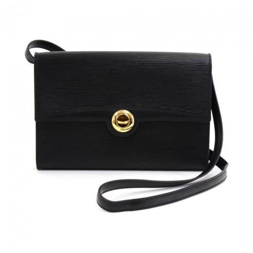 d4f4a7f7927a Vintage Louis Vuitton Arche Black Epi Leather Clutch Bag