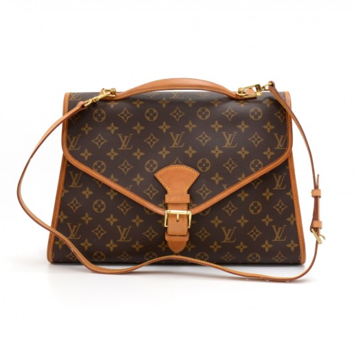 4d341dfdf4bb Vintage Louis Vuitton Beverly MM Monogram Canvas Briefcase Handbag + Strap