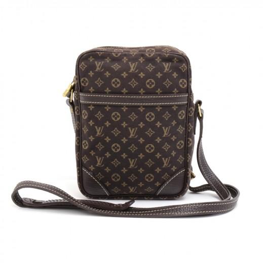 153fc507bb54 Louis Vuitton Mini Danube Dark Brown Mini Monogram Canvas Shoulder Pochette  Bag