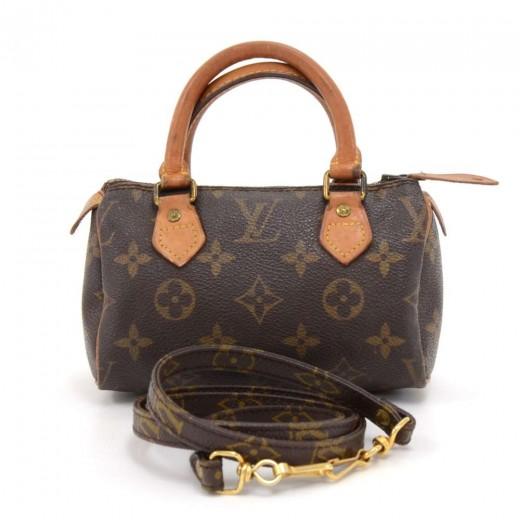 8b3a4b0cd550 Vintage Louis Vuitton Mini Speedy Sac HL Monogram Canvas Hand Bag + Strap