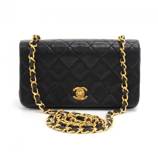 Chanel Vintage Chanel Black Quilted Leather Shoulder Flap Mini Bag Ex cfe6cefedc051