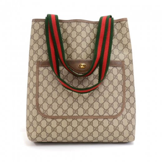 1b1b4b6246 Gucci Gucci Accessory Collection GG Supreme Monogram Canvas Tote Bag