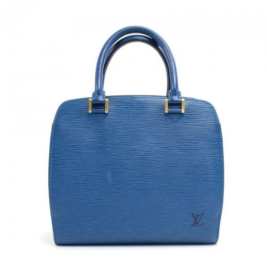 936eaaef Louis Vuitton Louis Vuitton Pont Neuf Blue Epi Leather Handbag