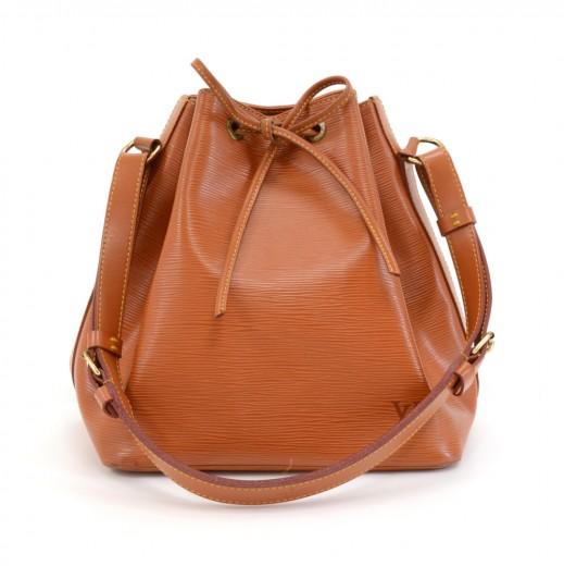 9c2f50838d9a Vintage Louis Vuitton Petit Noe Cipango Gold Epi Leather Shoulder Bag