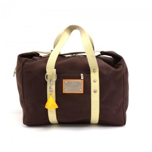 6b38f8db2b9b Louis Vuitton Sac Weekend LV Cup Chocolate Brown Antigua Canvas Hand Bag