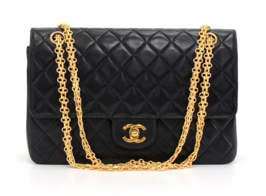 4a914893095b Chanel K28 Chanel 2.55 10.5 inch Double Flap Black Quilted Leather ...