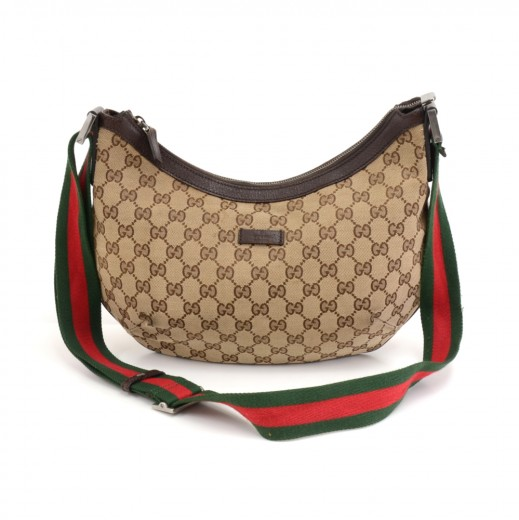 e1f1592bee54c5 Gucci Gucci GG Supreme Monogram Canvas Hobo Bag