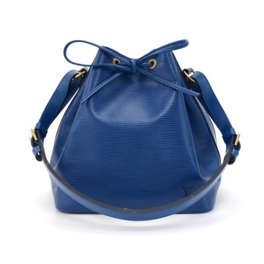 8a0cd663c55d Vintage Louis Vuitton Petit Noe Blue Epi Leather Shoulder Bag. Condition   Excellent