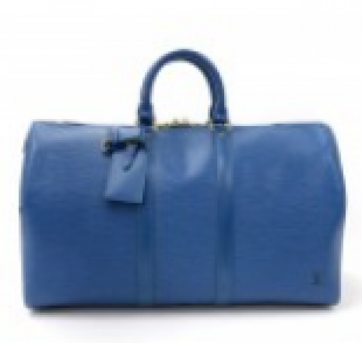 68c01b2e09a5 Louis Vuitton Louis Vuitton Keepall 45 Blue Epi Leather Duffle Travel .