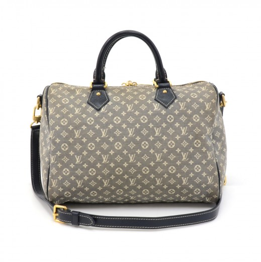 Louis Vuitton Speedy Bandouliere 30 Navy Idylle Monogram Mini Hand Bag +  Strap c73185fefdaf5
