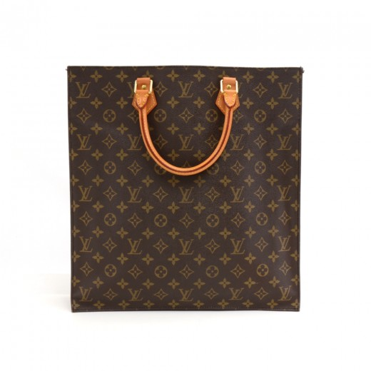 Louis Vuitton Vintage Sac Plat Monogram Canvas Tote