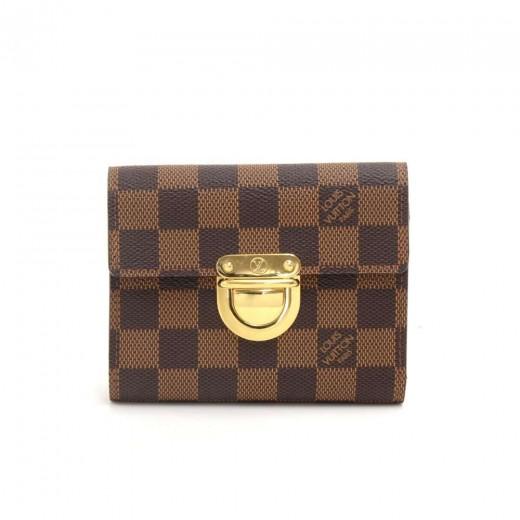 Louis Vuitton Louis Vuitton Portefeuille Koala Ebene Damier Canvas ... dd9c7d72408e