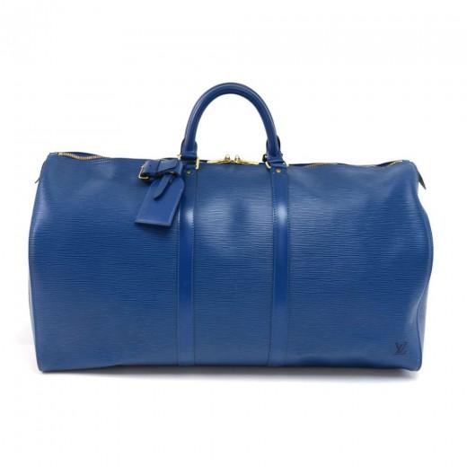 6f62514e0968 Louis Vuitton Vintage Louis Vuitton Keepall 55 Blue Epi Leather ...