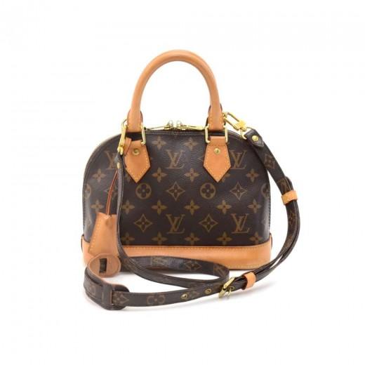 3ecf11c342a Louis Vuitton Louis Vuitton Alma BB Monogram Canvas Hand Bag + Strap
