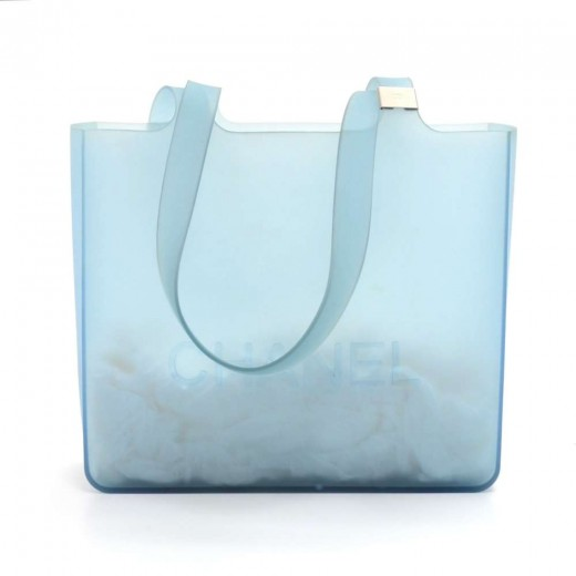 291fd5a1616 Chanel Chanel Light Blue Jelly Rubber Mini Shoulder Tote Bag