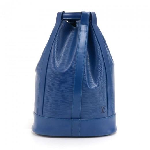 0125a4cc1014 Louis Vuitton Vintage Louis Vuitton Randonnee Blue Epi Leather ...
