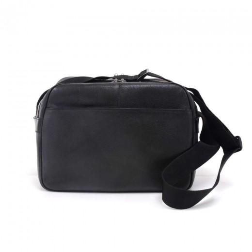 64f3f9f906d Louis Vuitton Louis Vuitton Reporter PM Black Taiga Leather Shoulder ...