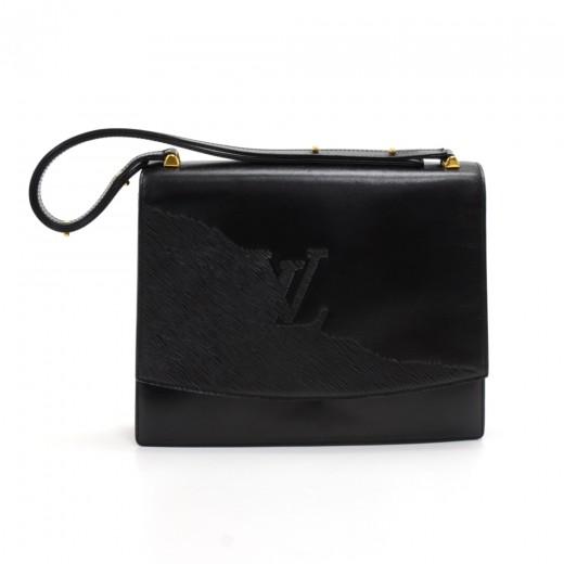 5c8a88eb839 Louis Vuitton Vintage Louis Vuitton Delphes Opera Line Black Leather ...