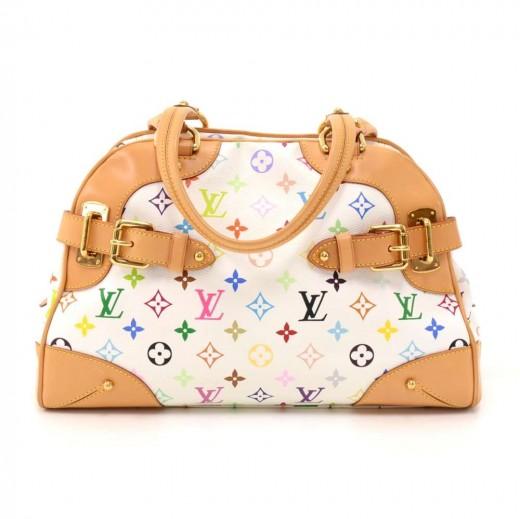 fcab55164978 Louis Vuitton Louis Vuitton Claudia White Multicolor Monogram Canvas ...