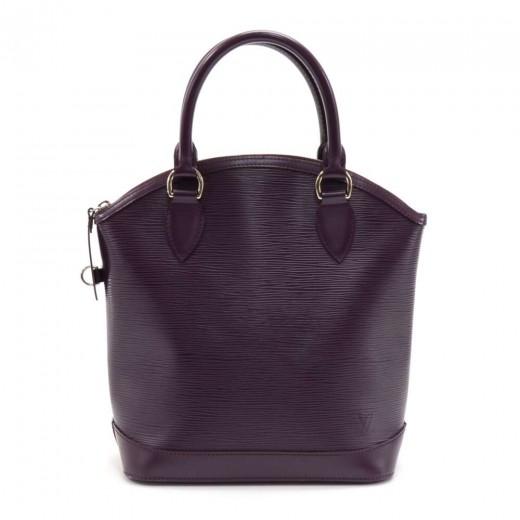 6c704926781d Louis Vuitton Louis Vuitton Lockit Cassis Purple Epi Leather Handbag