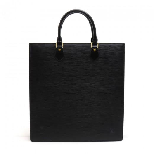 b719265a4576 Louis Vuitton Vintage Louis Vuitton Sac Plat Black Epi Leather ...