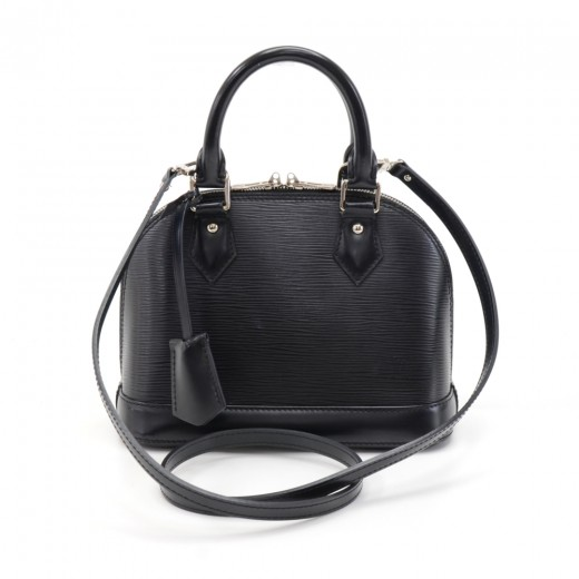 6952f19382ae Louis Vuitton Louis Vuitton Alma BB Black Epi Leather Handbag + ...