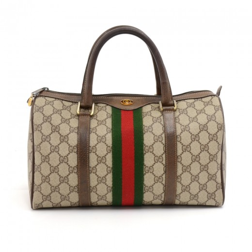 1de68b7750d0 Vintage Gucci Accessory Collection GG Supreme Coated Canvas Mini Boston Bag
