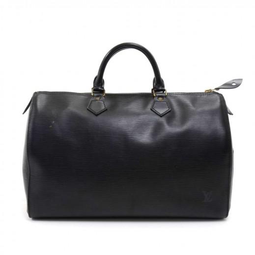 Louis Vuitton Vintage Louis Vuitton Speedy 35 Black Epi Leather City ... 7b77d02d0