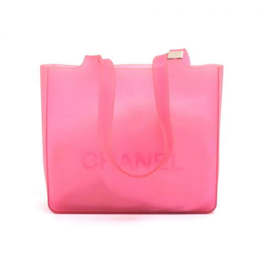 cd4f08d2f95 Chanel Chanel Pink Jelly Rubber Shoulder Tote Bag