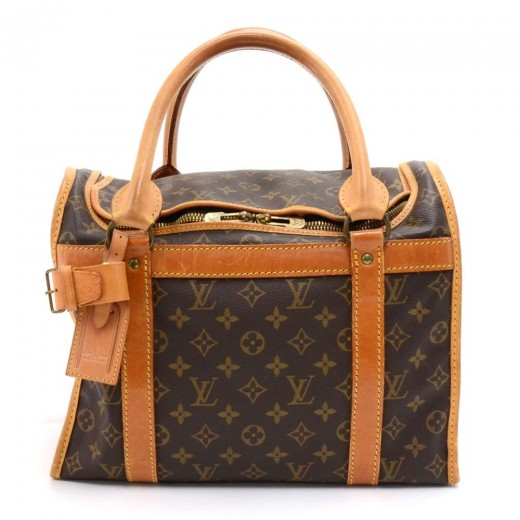 b0c8252c73fe Louis Vuitton Vintage Louis Vuitton Sac Chien 35 Monogram Canvas Pet ...
