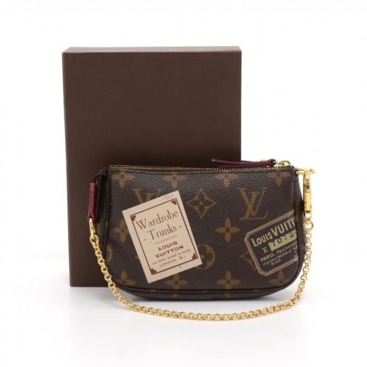 3d7de02a0d9 Louis Vuitton Louis Vuitton Mini Pochette Accessories Monogram Stamp ...