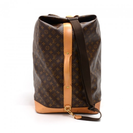 45e8acc43957 Louis Vuitton Sac Marin GM Monogram Canvas 2Way Duffel Travel Bag-Rare Ed