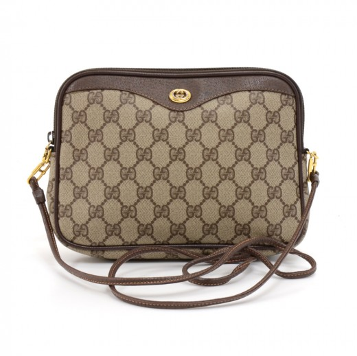e8f2322f8e519f Gucci Vintage Accessory Collection GG Supreme Coated Canvas Mini Crossbody  Bag