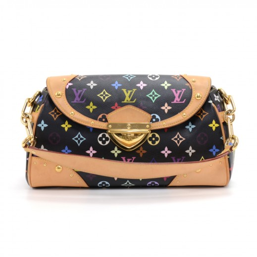 0ef74395210e Louis Vuitton Beverly MM Black Multicolor Monogram Canvas Shoulder Bag