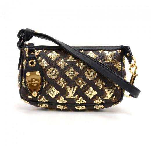 4b727963ffb2 Louis Vuitton Gold Monogram Eclipse Sequin Pochette Accessoires Bag-  Limited Edition