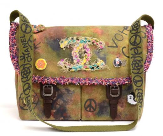 09fdae30c Chanel I-2 Chanel One the Pavement Graffitti Canvas Messenger Bag - ...