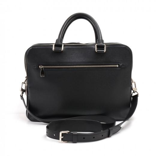 89251228019c Louis Vuitton Black Ardoise Taiga Leather Soft Sided Briefcase Travel Bag