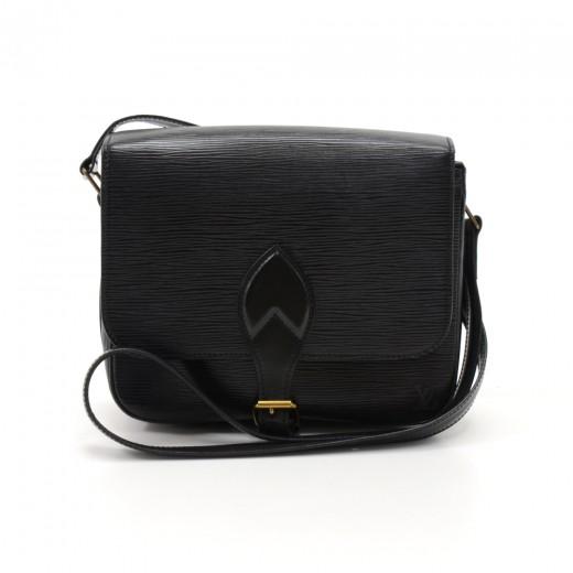 1c38a0653b Louis Vuitton Louis Vuitton Cartouchiere MM Black Epi Leather ...