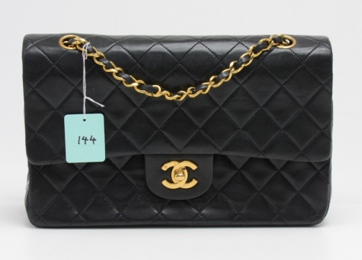 f86d2d89d0d30e Chanel 144 Chanel 2.55 10inch Double Flap Black Quilted Leather ...