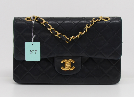 accadb96f28e Chanel 157 Chanel 2.55 Double Flap Black Quilted Leather Shoulder Bag