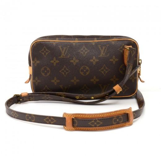 e039dd174ab4 Vintage Louis Vuitton Pochette Marly Bandouliere Monogram Canvas Crossbody  Bag