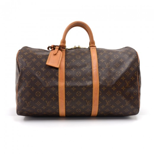 Louis Vuitton Vintage Louis Vuitton Keepall 50 Monogram Canvas ... faa8ff2cce067