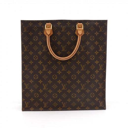 16cb966cd8 Louis Vuitton Louis Vuitton Sac Plat Monogram Canvas Tote Handbag
