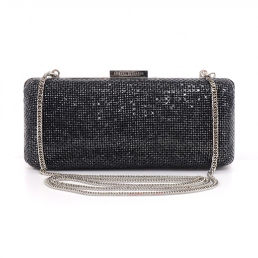 baf05b7fa6cc Others Armani Exchange Black Chainmail Clutch   Chain Strap Evening ...
