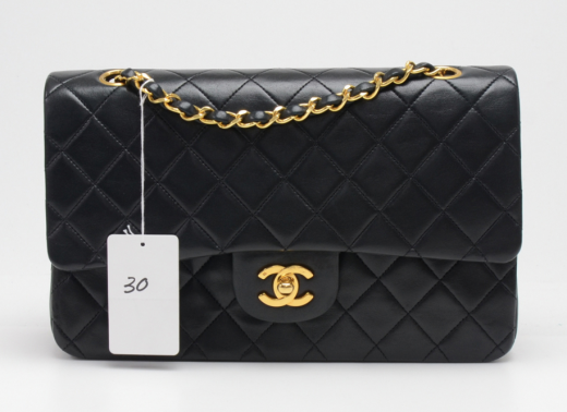 428d1fd133b997 Chanel P-30 Chanel 2.55 10inch Double Flap Black Quilted Leather ...
