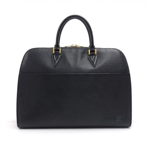 89077d7660be Louis Vuitton Louis Vuitton Sorbonne Black Epi Leather Large Hand Bag