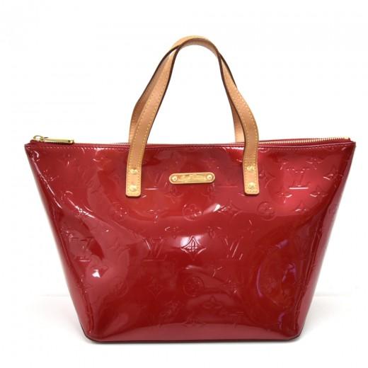 Louis Vuitton Louis Vuitton Bellevue Pm Red Vernis Leather Handbag
