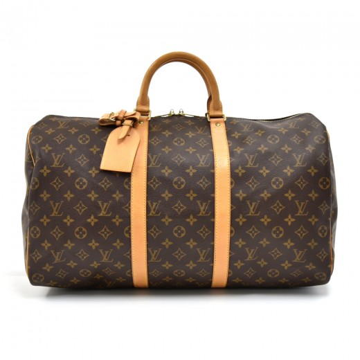 32b2d8740 Vintage Louis Vuitton Keepall 50 Monogram Canvas Duffle Travel Bag