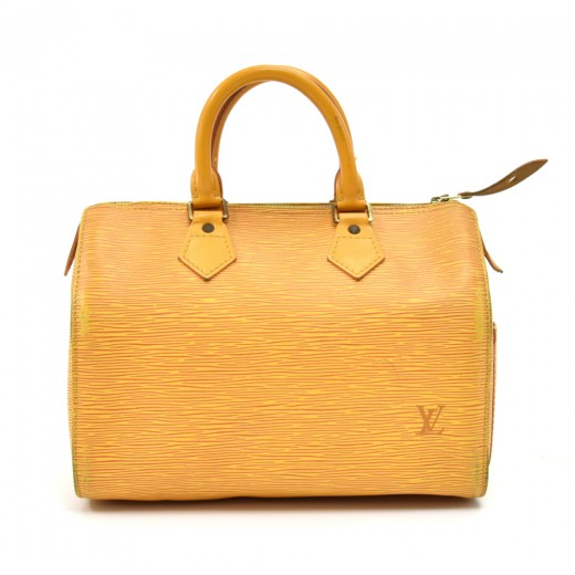 26b7d27d10bb Louis Vuitton Vintage Louis Vuitton Speedy 25 Yellow Epi Leather ...